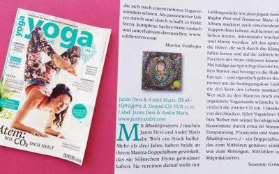 Bhaktiprayers 2 CD Rezension in der Yoga Aktuell