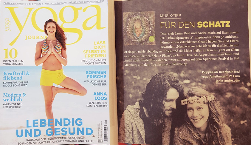 "Bhaktiprayers 2 CD review in ""Yoga Journal"""