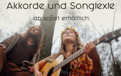 Akkorde und Songtexte ab sofort erhältlich
