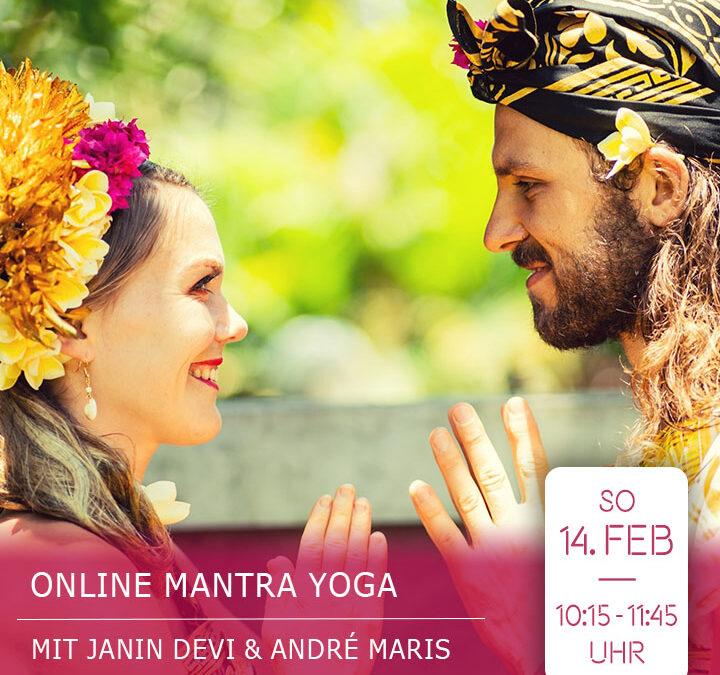 Online Mantra Yoga live Stream mit Janin Devi & André Maris
