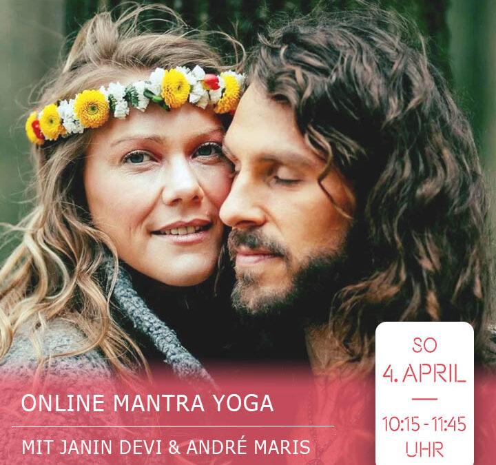 Online Mantra Yoga Livestream mit Janin Devi & André Maris